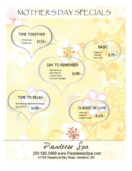 Mother S Day Spa Specials Houston